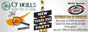 ONeills Irish bar and grill New years party sponsored by Findingcyprus.com
